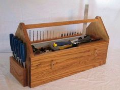 carpenters wooden tool box