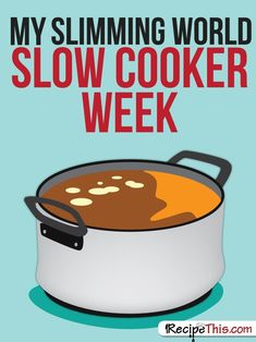 Welcome to my Slimming World slow cooker week. The slow cooker (or the crockpot as you might call it) is an excellent kitchen gadget for the Slimming World diet. This is because it's very easy to cook… Slimming World Meal Prep, Slow Cooker Slimming World, Slimming World Recipes Syn Free, My Slimming World, Slimming Eats, Aldi Slimming World Syns, Slimming World Survival, Slimming World Snacks, Slimming World Puddings
