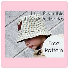 Toddler reversible bucket hat - free pattern {Sew Much Ado}
