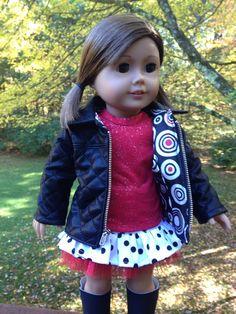 American Girl Doll Clothes Jacket Hat T-shirt by SewSmallNSweet