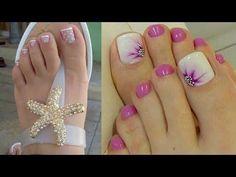 decoracion de uñas de los pies, uñas de los pies diseños - YouTube