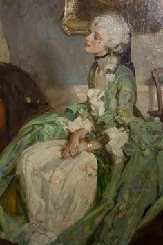 'Old Fashion' (close-up) - by Dean Cornwell 1925 (oil on canvas)