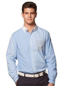 Chaps  Big  Tall Multi-Striped Shirt