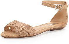 Schutz Fleuranne Cork and Leather Sandal on shopstyle.com