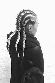 blond boxer braids... by madeau http://madeau.com/category/the-outside/