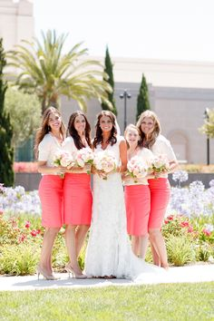 See the rest of this beautiful gallery: http://www.stylemepretty.com/gallery/picture/1001667/ LOVE the bridesmaids dresses!!