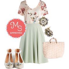 Florist's Apprentice Tee by modcloth on Polyvore featuring Myrtlewood, Seychelles, outfit, ootd, springfashion and modcloth
