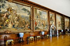 Tapestries in the Hampton Court Royal Palace - Greater London England Palace Uk, Palace London, Royal Palace, Hampton Court, Hampton Palace, English Monarchs, Richmond Upon Thames, Royal Residence, Greater London