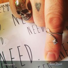 "The lovely @lorrayne71 in some of her Need. jewellery. The ""Need A Face"" Skull Ring in Silver and the ""Need Versatility"" adjustable snake ring, which can be worn as a regular ring, a midi ring or a toe ring (on the website very soon!) Start your collection today!  www.needlifestyle.bigcartel.com  #need #ineed #ineedthis #youneedthis #skull #snake #serpent #exclusive #silver #needlifestyle #adjustable #midi #toe #finger #ring #ootd #jewellery #jewelry #heart #tattoo"