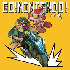Go! Nintendo! #Link #MarioKart8 #DLC #WIIU