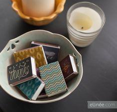 Weekend Craft Idea: Dress Up your Matchbox Labels
