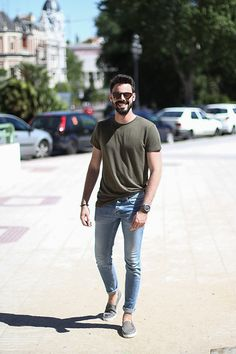 Militar & Denim look #fashion #summer #men