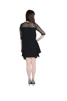 "Back view to the sophisticated ""Lady in Lace"" dress, available in store and online."