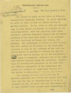 The Zimmermann Telegram | National Archives