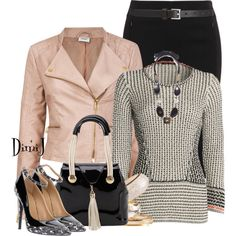 """""""Office Look - Touch of Pink"""" by dimij on Polyvore"""