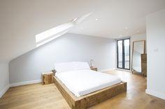 Loft Conversion in Camberwell, SE5, Loft Conversion in London, Loft Bedroom, White Bedroom, Exposed Brick, Design Ideas, Loft Conversion Design Ideas, Velux, Loft Refurbishment, Loft Ideas
