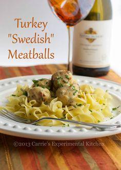 Turkey Swedish Meatballs | Carrie's Experimental Kitchen #turkey