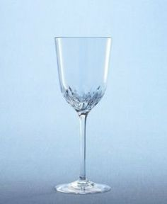 """Martha Stewart Collection with Wedgwood """"Petals"""" Goblet, 14 oz. by Wedgwood. $13.60. Dishwasher safe. Full-lead crystal. Made in Germany. Beautiful stemware is the final flourish on an elegantly dressed table. Petal's cut-glass motif rings the bowl in a flurry of flower petals. These full lead crystal wine glasses can dress up a festive table or rest within a quiet place setting; Martha delights in their radiant sparkle and the shadows they throw off. Cut crystal ste..."""