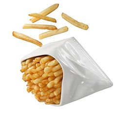 Sachets, French Fries, White Porcelain, Freezer, Microwave, Dishwasher, Oven, Tableware, Food