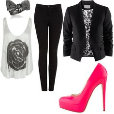 Edgy & Classy, created by kristinxnoel on Polyvore