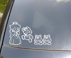 Super Mario Bros Family Car Stickers. $14.50, via Etsy.