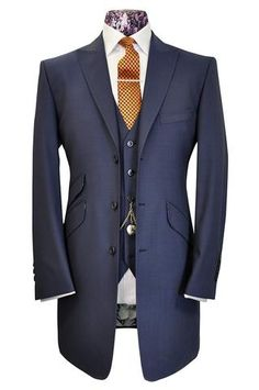 The Hollingsworth French Navy Frock Coat Suit - William Hunt Savile Row - 1