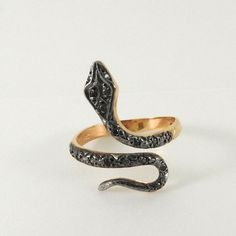 Pink Gold Snake Ring with coloured stones and black rhodium. Gold Jewelry, Fine Jewelry, Greek History, Snake Ring, Meraki, Ancient Greek, Pink And Gold, Gemstone Rings, Detail