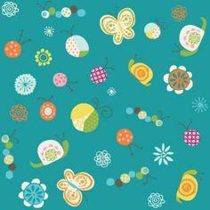 """Riley Blake Designs """"Happier"""" in Aqua 1 Yard Cut"""