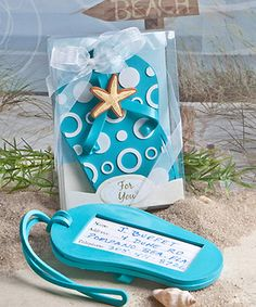 "Flip Flop Luggage Tag  - Beach Wedding Party Favors - free shipping code - "" freeshipping """