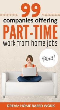 Prefer a part-time work from home job? This amazing list of 99 part-time options.Prefer a part-time work from home job? This amazing list of 99 part-time options ideal for stay at home moms, college students, and young teens. Earn Money From Home, Earn Money Online, Way To Make Money, Earning Money, Making Money From Home, Online Cash, Money Today, Home Based Work, Work From Home Moms