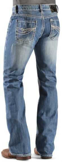 Rock & Roll Cowboy Abstract Back Pocket Jeans - Sheplers