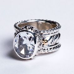 Reve White Topaz Ring at Touch of Class, BEAUTIFUL!