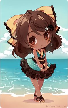 Chibi for Kori~! Cute Anime Chibi, Cute Anime Pics, Kawaii Anime, Black Anime Characters, Chibi Characters, Anime Child, Anime Art Girl, Kawaii Drawings, Cute Drawings