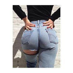DIY Butt Slit Mom Jeans