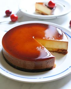 """Boiled caramel sauce is irresistible! Enchanting two-layer tailored sweet """"Purin Cake"""" – pastry types Gourmet Desserts, Cookie Desserts, Sweets Recipes, Delicious Desserts, Cake Recipes, Yummy Food, Flan, Food Shows, Pastry Cake"""