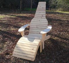Adirondack Furniture Plans - Beer Bottle Adirondack Chair Wood Pattern