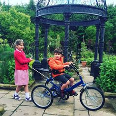 Seth and Sister Bikes and Bandstands @Morpeth_Herald what a lovely photo! #siblings