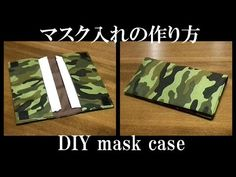Today's handcrafted goods is mask holder. Finished dimensions are about by Sewing Tutorials, Sewing Projects, Darning, Diy Mask, Diy And Crafts, Knitting, Fabric, Handmade, Bags