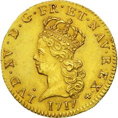 ➽ Ask us to find it for you : Coin France Louis XV Louis d'Or 1717 Paris Gold Louis D'or, Numismatic Coins, Rare Coins Worth Money, Money Book, Euro Coins, Gold Money, Coin Worth, French History, Gold And Silver Coins