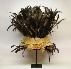 Bamileke feathered hat