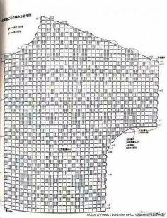 Crochet Top Pullover Pattern, Crochet Top Pattern, Womens Summer Beach Pattern-P. - Knitting patterns, knitting designs, knitting for beginners. Débardeurs Au Crochet, Bonnet Crochet, Pull Crochet, Fillet Crochet, Crochet Shirt, Crochet Jacket, Crochet Diagram, Crochet Slippers, Crochet Cardigan