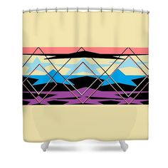 Shower Curtain of 'Navajo 5' is a series of  designs by Sumi e Master Linda Velasquez to Honor the Navajo People.