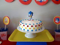 Sonic the Hedgehog Cake Ideas / Sonic Themed Cakes Sonic Birthday Cake, Sonic Birthday Parties, Boy Birthday, Birthday Ideas, Bolo Sonic, Sonic Cake, Sonic Party, Pjmask Party, Party Cakes