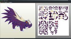 Stunky pokemon unfold papercraft by Antyyy.deviantart.com on @DeviantArt