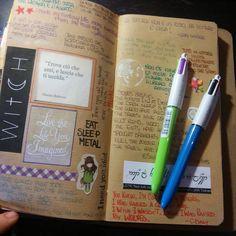 New pens for my Midori ✒#midori #travellersnotebook #midoriitalia #PlannersAddicted #japanstyle #midoriaddicted #midoritravelersnotebook #mymidori #DiY #handmade #happyshalala #refeel #insert #pen #quotes #quotebooks #coulorlife