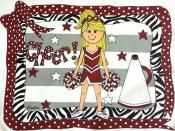 Personalized pillowcase for a cheer present