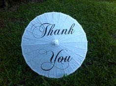 Thank You Wedding Parasol - Wedding Photo Prop - Decoration