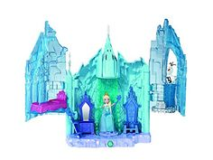 Inspired by the hit new Disney animated film, Frozen Girls will love reenacting their favorite scenes from the movie Elsa can enjoy sweet dreams on her cozy bed, get royal ready at her vanity, or sit on her throne