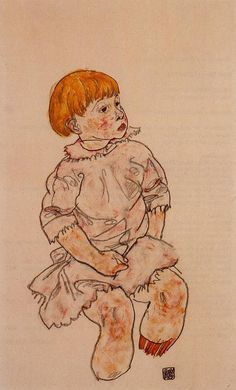 Egon Schiele, Seated Child, 1917