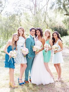 Dreamy Blue and Green Spring Wedding Inspiration Shoot